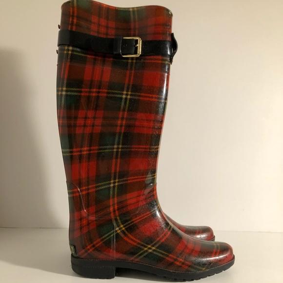 Lauren Ralph Lauren Plaid Rain Boots
